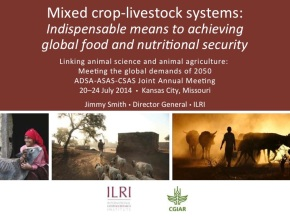 Mixing crops and livestock: Means for global food and nutritional security