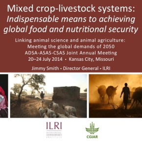 Mixing crops and livestock: Means for global food and nutritionalsecurity