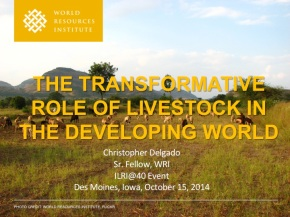 A major presentation on 'the power of livestock' to transform today's resource-scarce agricultural lands