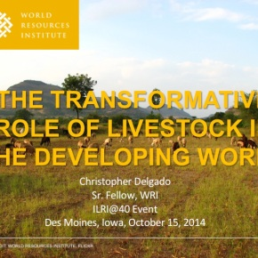 A major presentation on 'the power of livestock' to transform today's resource-scarce agriculturallands