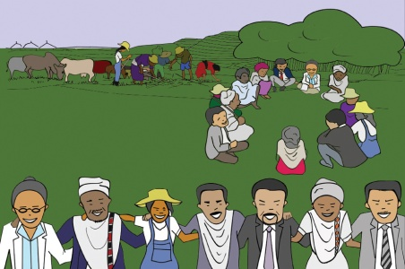 Image from a series of 'practice briefs' to help guide agricultural research practitioners to support and implement innovation platforms (image credit: ILRI/Beniyam Seyoum and Tewodros Girma).