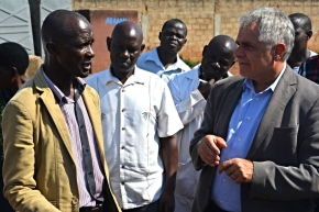 High-level EC-IFAD delegation tours smallholder pig projects in Uganda