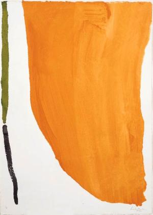 Frankenthaler_OrangeDownpour_1963