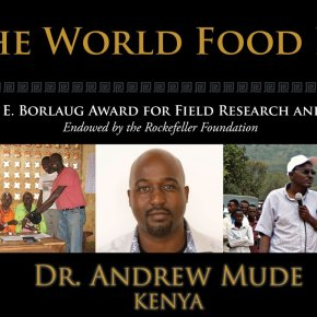 Kenyan economist Andrew Mude wins the 2016 Norman Borlaug Award for Field Research and Application