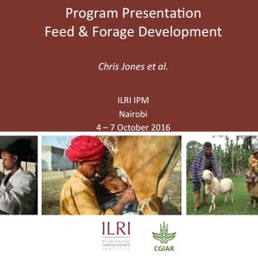 A first look at ILRI's new research programs: Feed and Forage Development