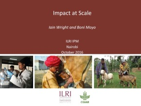 A first look at ILRI's new research programs: Impact atScale