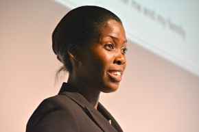 Ugandan Emma Naluyima describes her thriving pig+crop farm at the Global Forum for Food and Agriculture