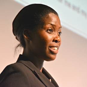 Ugandan Emma Naluyima describes her thriving pig+crop farm at the Global Forum for Food andAgriculture