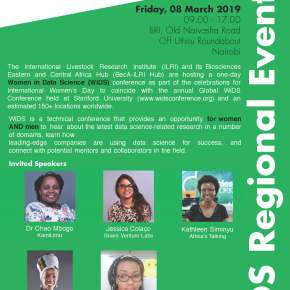Women in Data Science conference to be held at ILRI's Nairobi campus on 8 Mar 2019